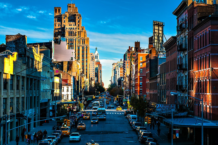 The west side of New York City from the Highline