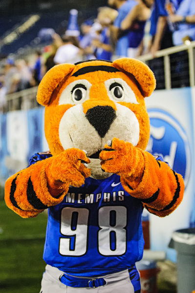 The Memphis Tiger's mascot