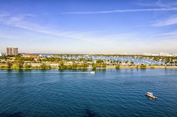 Miami beach views from the Disney Magic