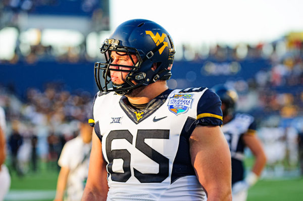 West Virginia offensive lineman, Tyler Orlosky