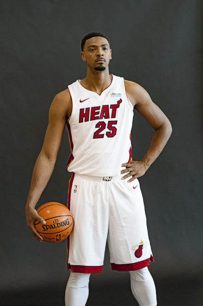 Miami Heat power forward Jordan Mickey