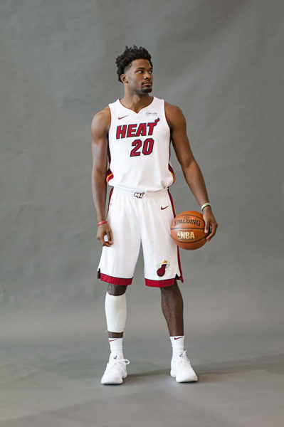 Justise Winslow poses during Miami Heat Media Day