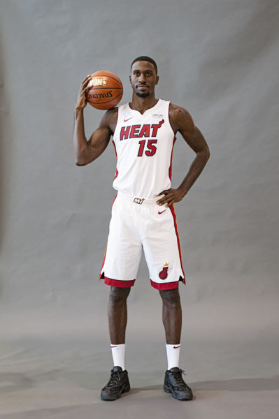 Heat forward, Okaro White, poses for his picture