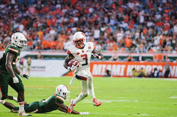Ervin Phillips eludes one tackle
