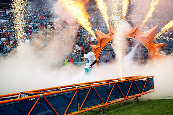 Julius Thomas runs out of the tunnel