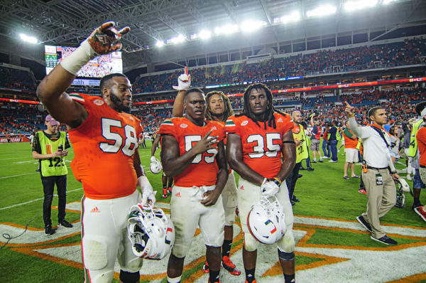 Miami Hurricanes Linebackers