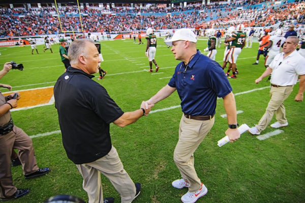 Both coaches meet after the game