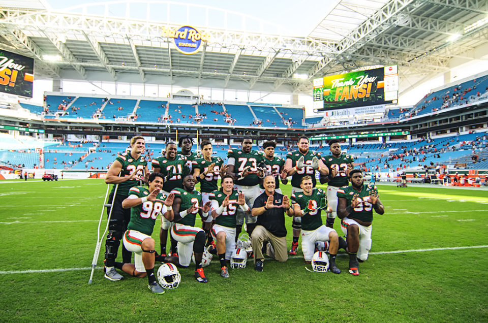 Miami Hurricanes Beat Virginia on Senior Day