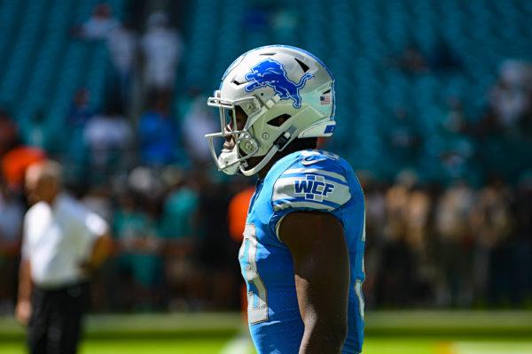 Detroit Lions running back Kerryon Johnson (33)