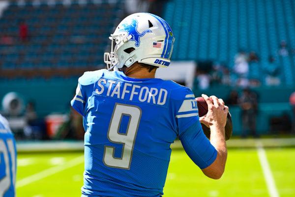 Detroit Lions quarterback Matthew Stafford (9)
