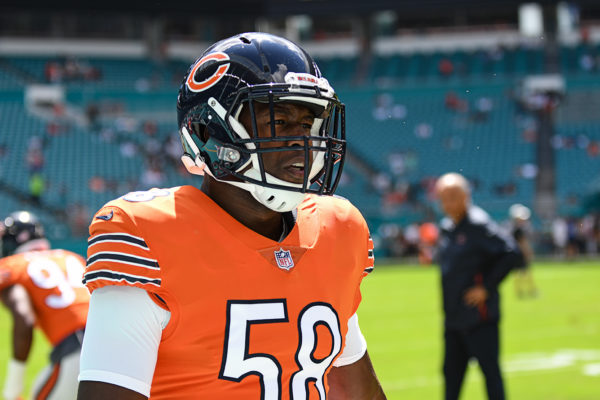Chicago Bears inside linebacker Roquan Smith (58)