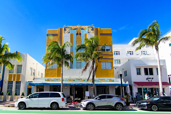 Ocean drive art deco colors