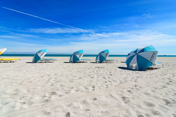 South Beach beach umbrellas