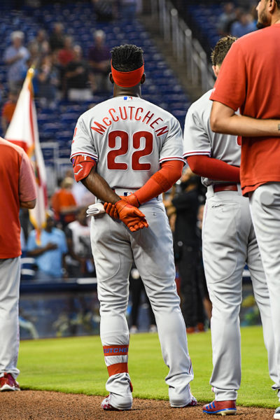 Philadelphia Phillies center fielder Andrew McCutchen (22)