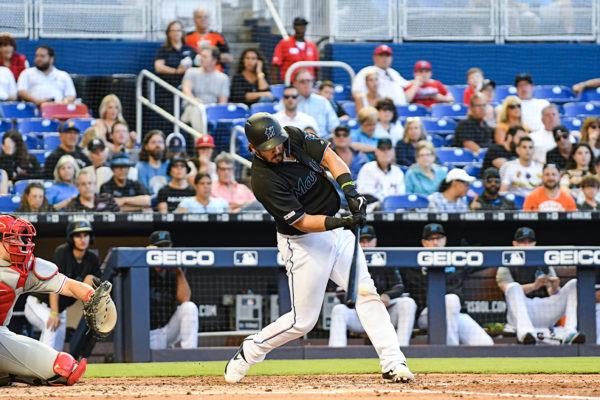 Miami Marlins catcher Jorge Alfaro (38)