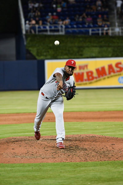 Philadelphia Phillies relief pitcher Juan Nicasio (12)