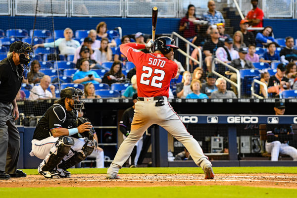 Washington Nationals left fielder Juan Soto #22