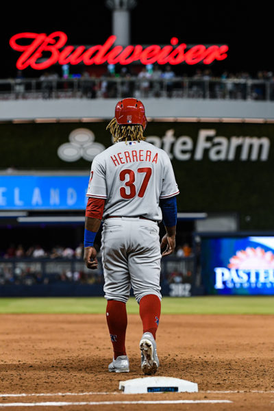 Philadelphia Phillies center fielder Odubel Herrera (37)