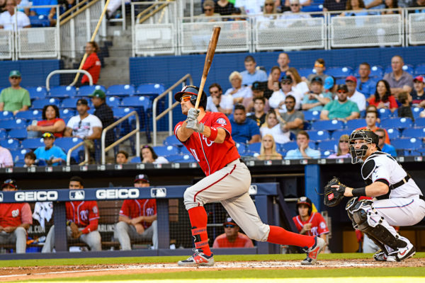 Washington Nationals first baseman Ryan Zimmerman #11 hits a homerun