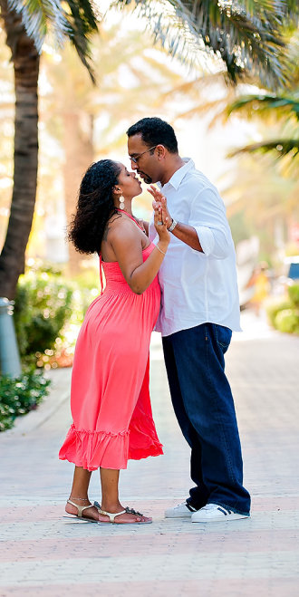 South Beach engagement photo shoot