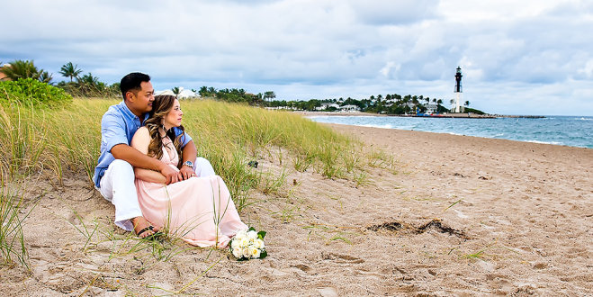 Bridal portrait on Fort Lauderdale beach